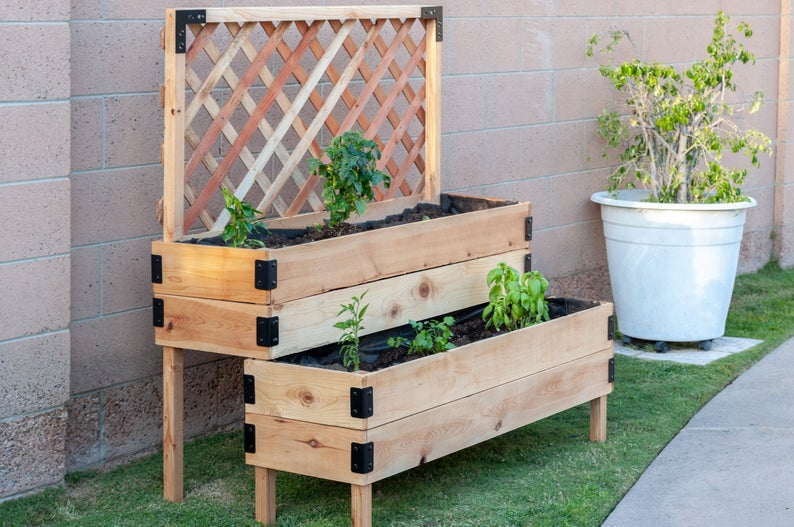 Tiered Raised Garden Bed Freestanding, How To Build A Raised Garden Bed With Legs Pdf