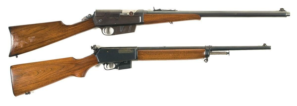 Remington Model 8 (top) and Winchester Model 1907