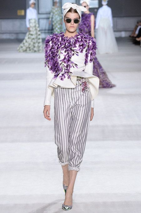 This Design Is An Interpretation Of 1950s Styles In Particular The Pants And Their Length While Not Exactly Fashion Fashion Designers Famous Couture Fashion