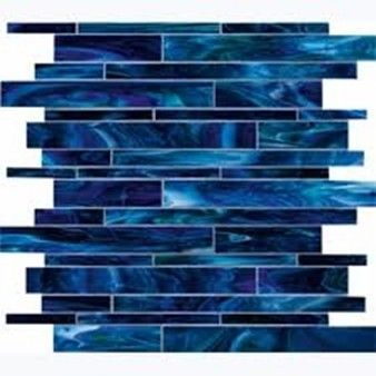 29 99 Per 12 X 12 Section Of Mosaic Marazzi Catwalk Blue Ballet 12 X 12 Glass Tile Mosaic Blue Glass Tile Stained Glass Mosaic Tile Glass Mosaic Tiles