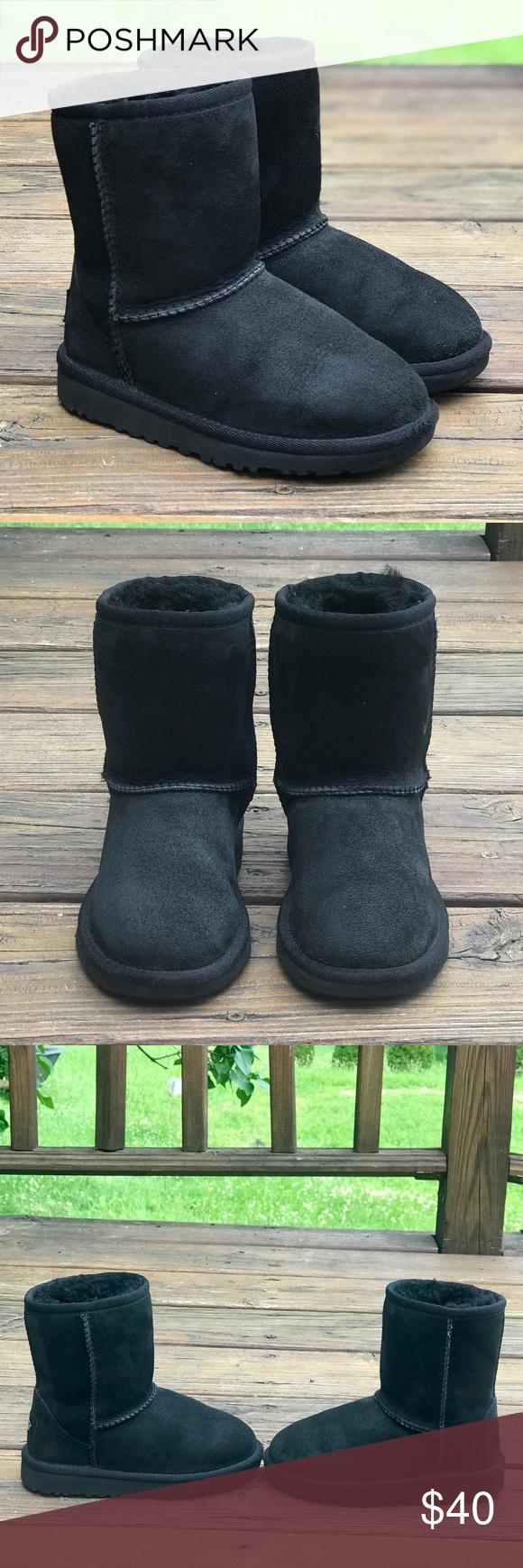 Girls Short Black UGG Boots b649e0f88