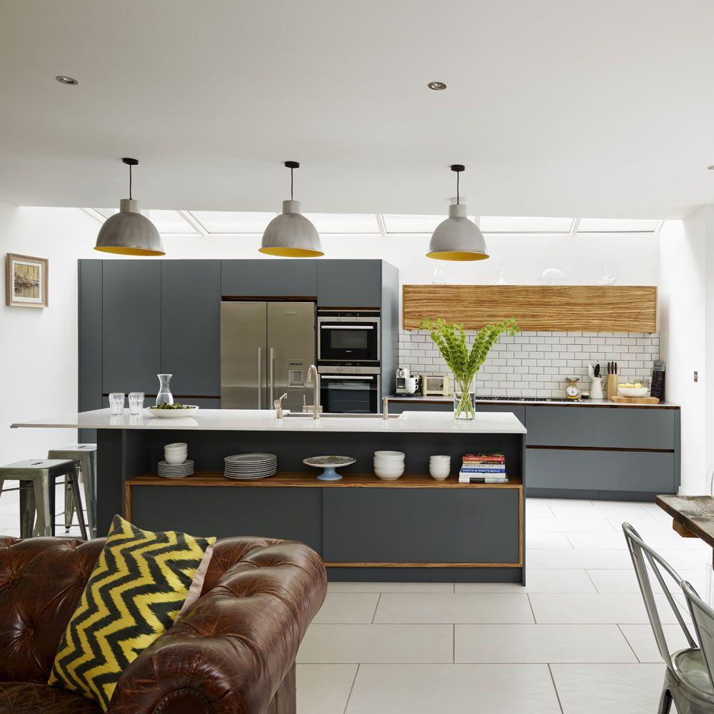 Die Große Küche Designs, Wohnzimmer Designs, Offene Küche Und ...
