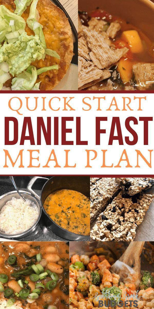 Daniel Fast Meal Plan Menu With Recipes & PDF Download in