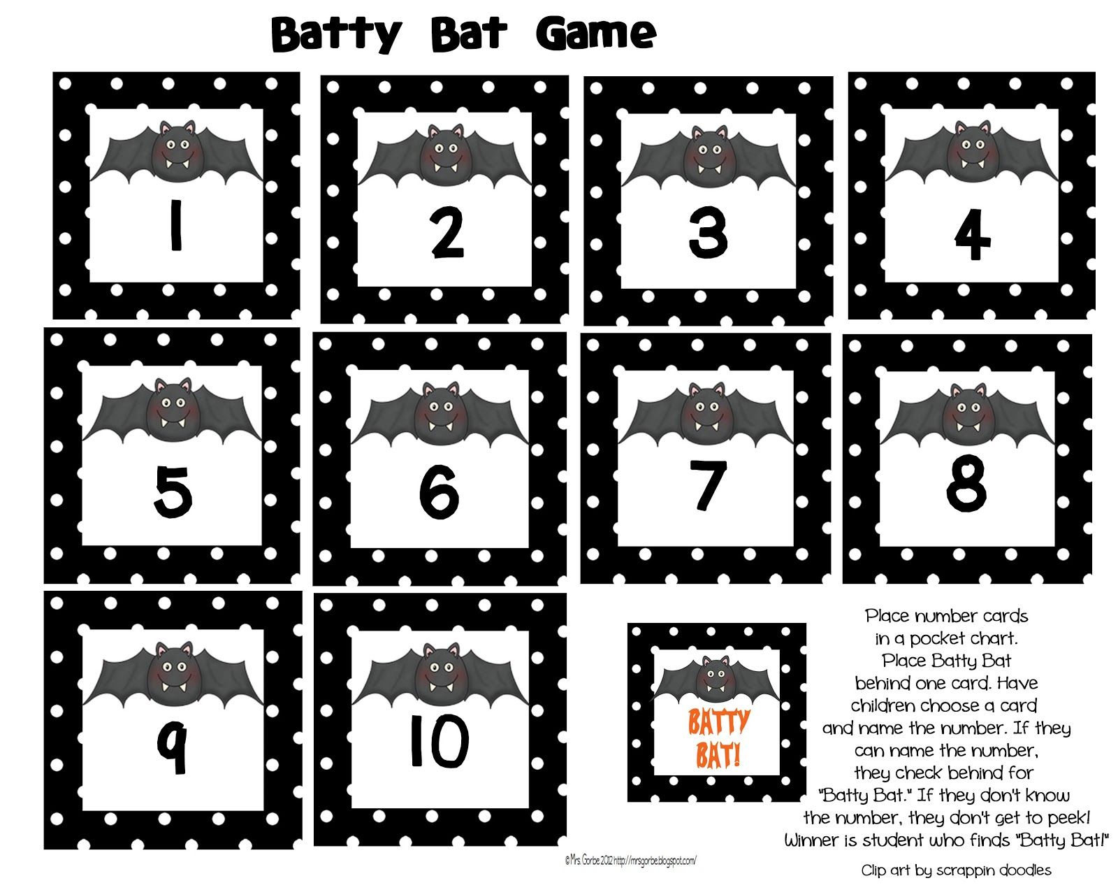 Mrs Gorbe S Kinderlittles I Ve Gone Batty Cute Bat Freebie For Recognition