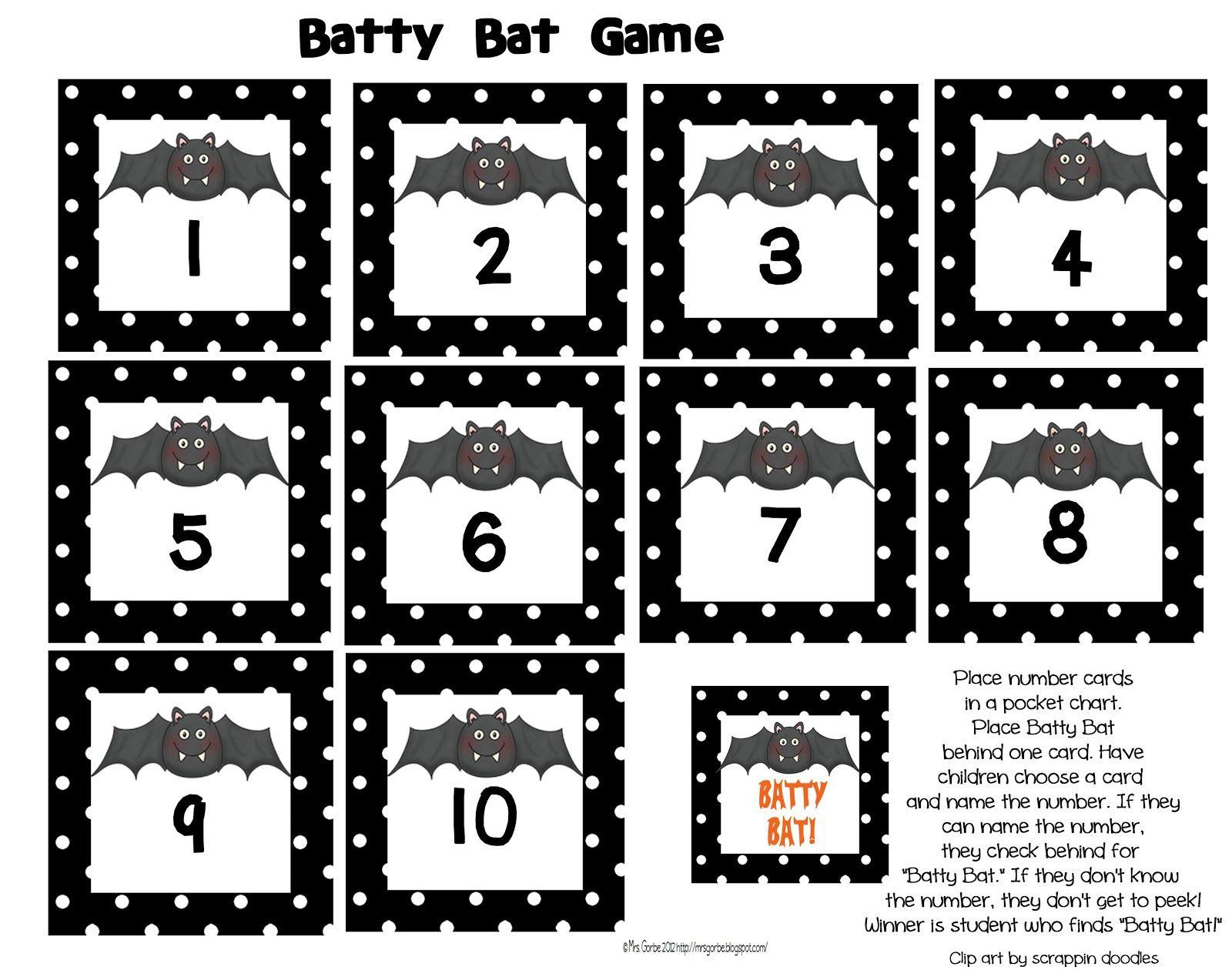 Mrs Gorbe S Kinderlittles I Ve Gone Batty Cute Bat Freebie For Recognition