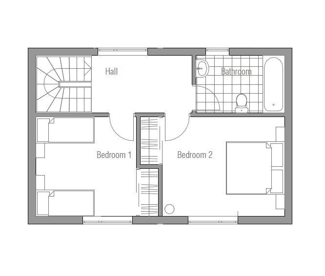 Small Houses 22 059ch 3f 120817 House Plan Jpg With Images House Plans