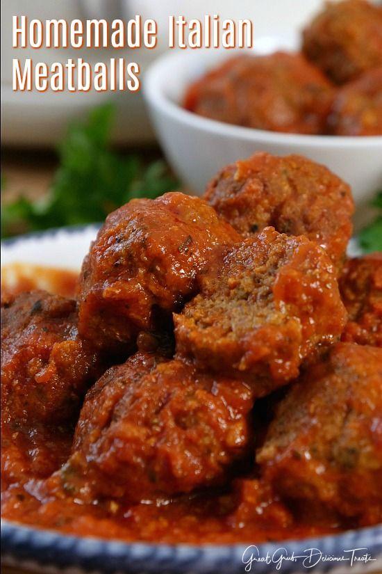 Photo of Homemade Italian Meatballs – Great Grub, Delicious Treats