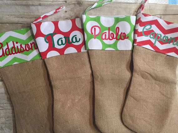 Your Personalized Stockings We Put Your Childs Name Or