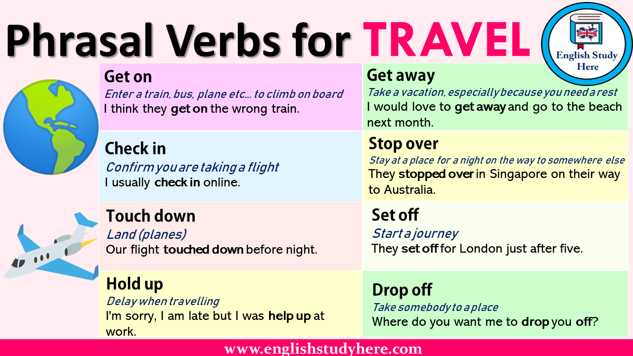 English Phrasal Verbs List Definitions And Example Sentences Phrasal Verbs For Travel Get On Definition Ent Travel English English Study English Vocabulary [ 720 x 1280 Pixel ]