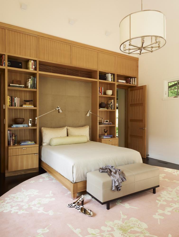 Murphy bed with beautiful built-in shelves Murphy Beds Pinterest - recamaras de madera modernas