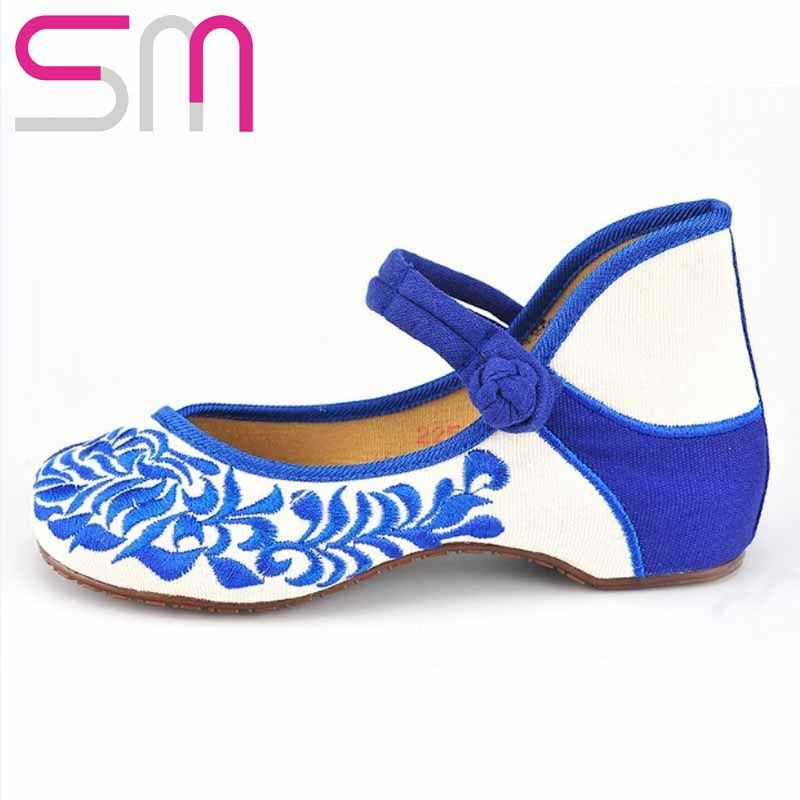 2016  Spring Summer Style Hidden Wedges Summer Pumps Chinese Embroidery Mary Janes Women Pumps Breathable Sweat Summer Shoes-in Women's Pumps from Shoes on Aliexpress.com | Alibaba Group