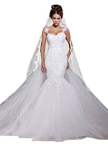 0fa97086e73b MengLu Winter Appliques Laces Mermaid Wedding Dress Brida... https://www