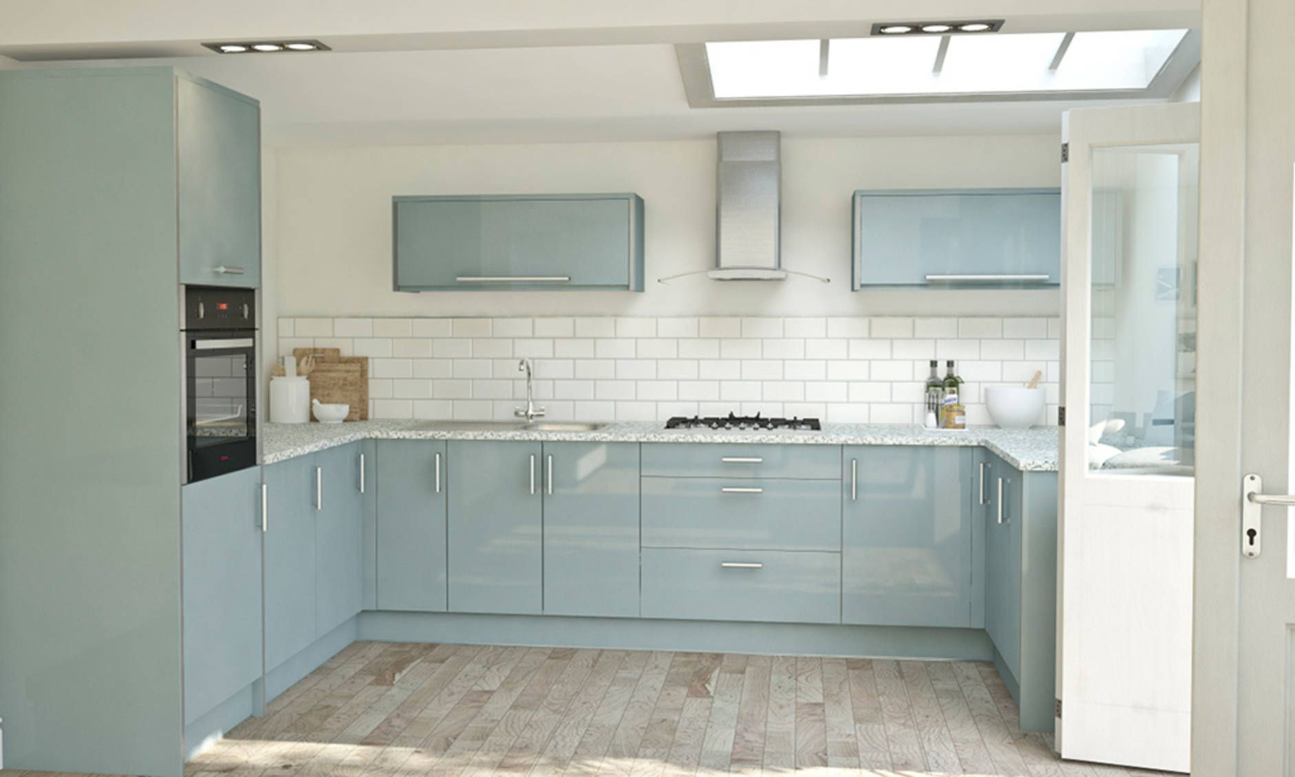 Pacrylic Blue Quartz Gloss Kitchen image 3 | Kitchens | Pinterest ...
