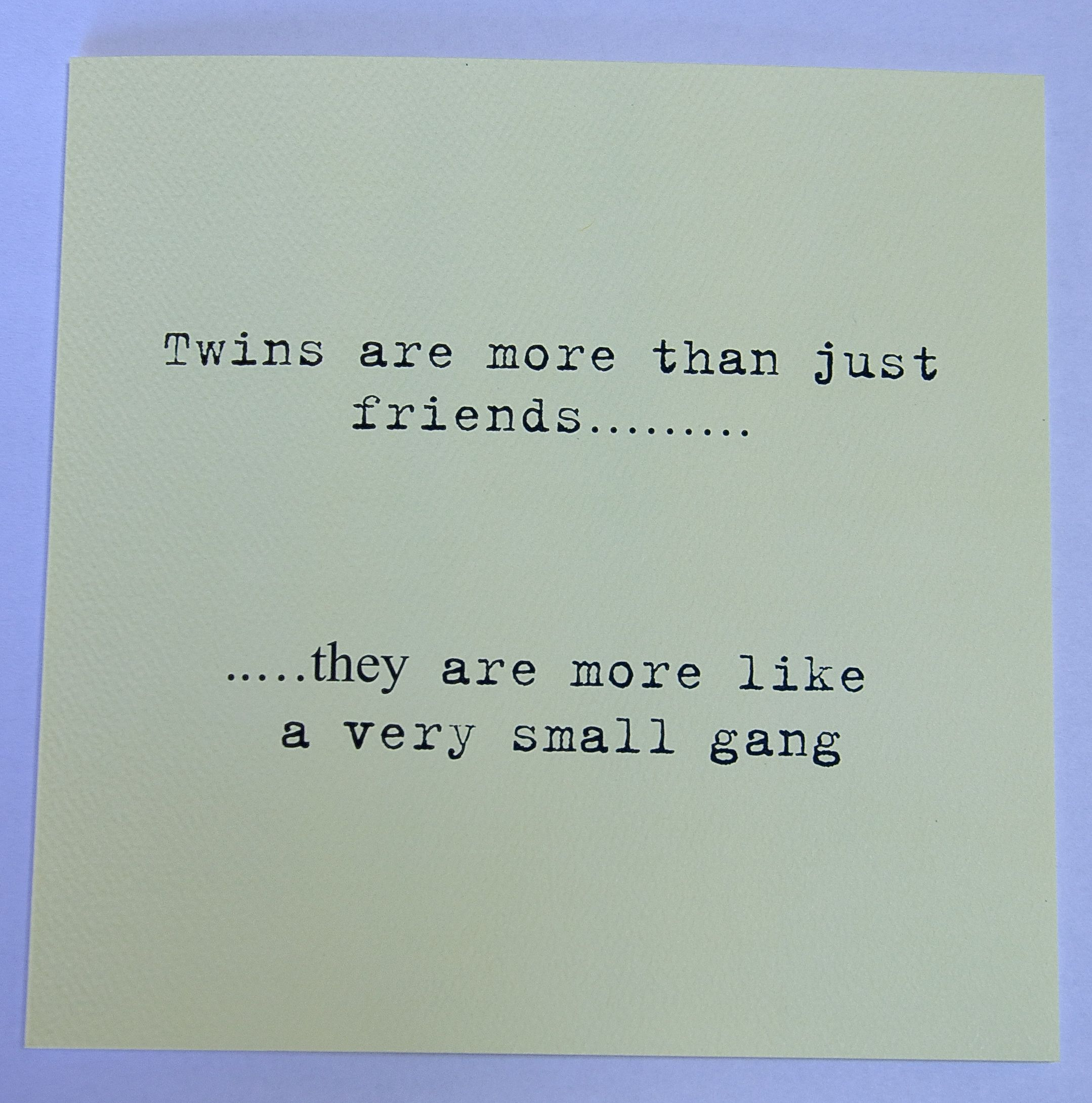Twin Baby Girl Quotes: £2.99 Www.twinsgiftcompany.co.uk Cards For Twins
