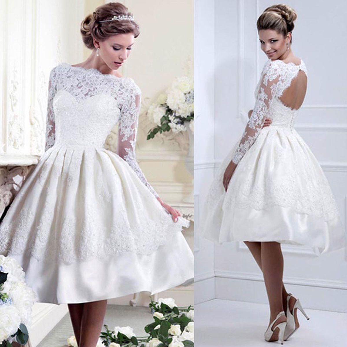 Dress for wedding evening party  Women Backless Lace Dress Prom Evening Party Cocktail Bridesmaid