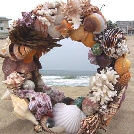 shell wreath mirror