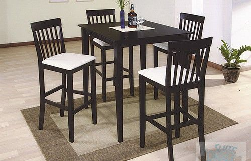 Contemporary Dinette Pub Set Espresso Color  New In Box Simple Espresso Dining Room Table Sets Decorating Design
