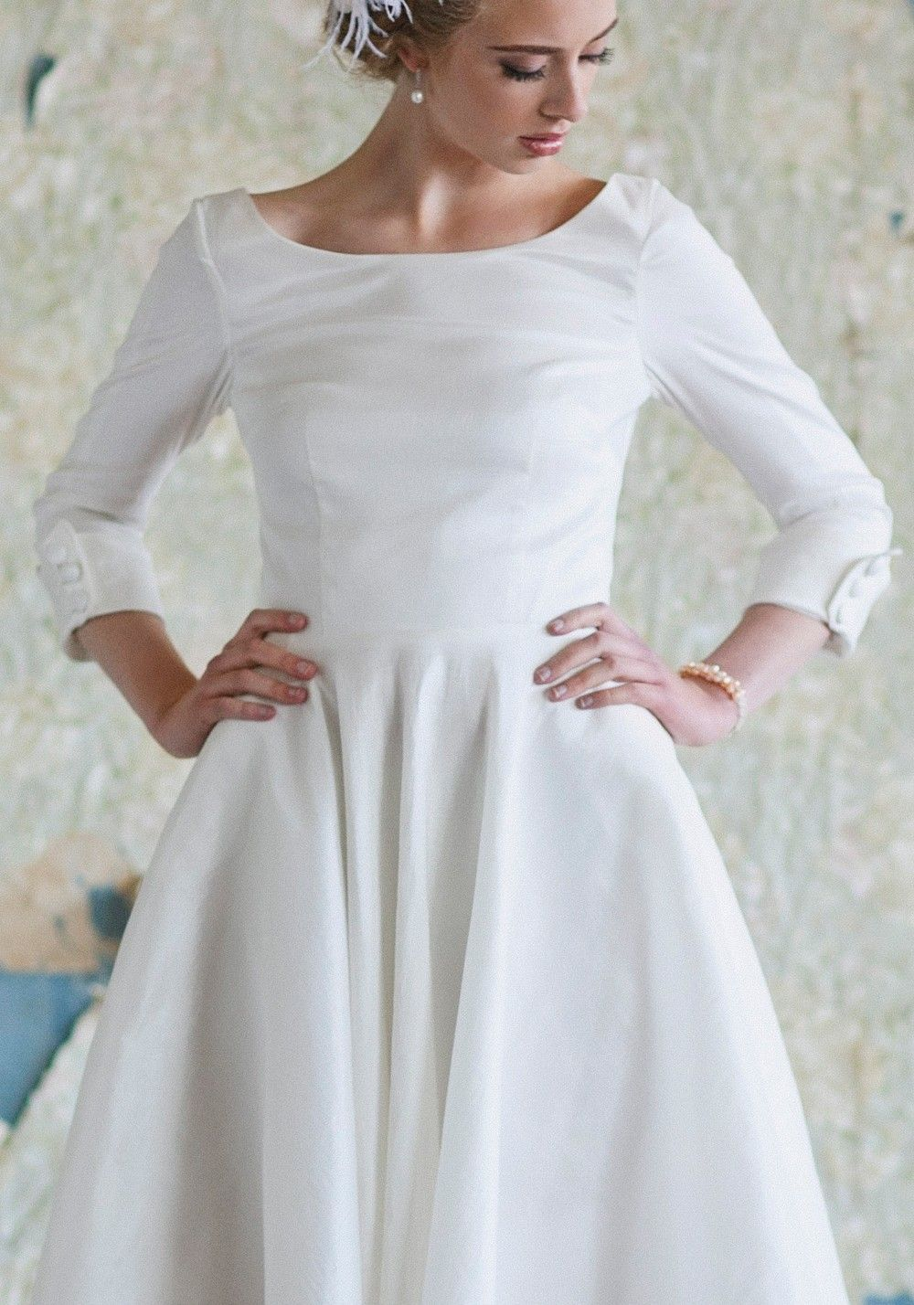 Audrey Tea Length Dress A Line Wedding Dresses And 50s