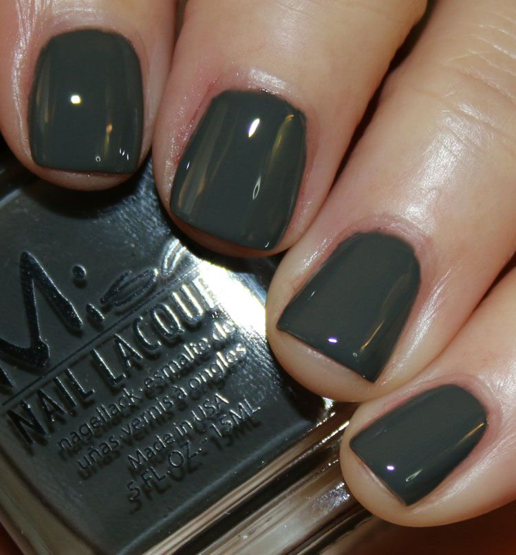 Misa Don\'t Listen is a deep cool-toned grey creme. | esmaltes ...