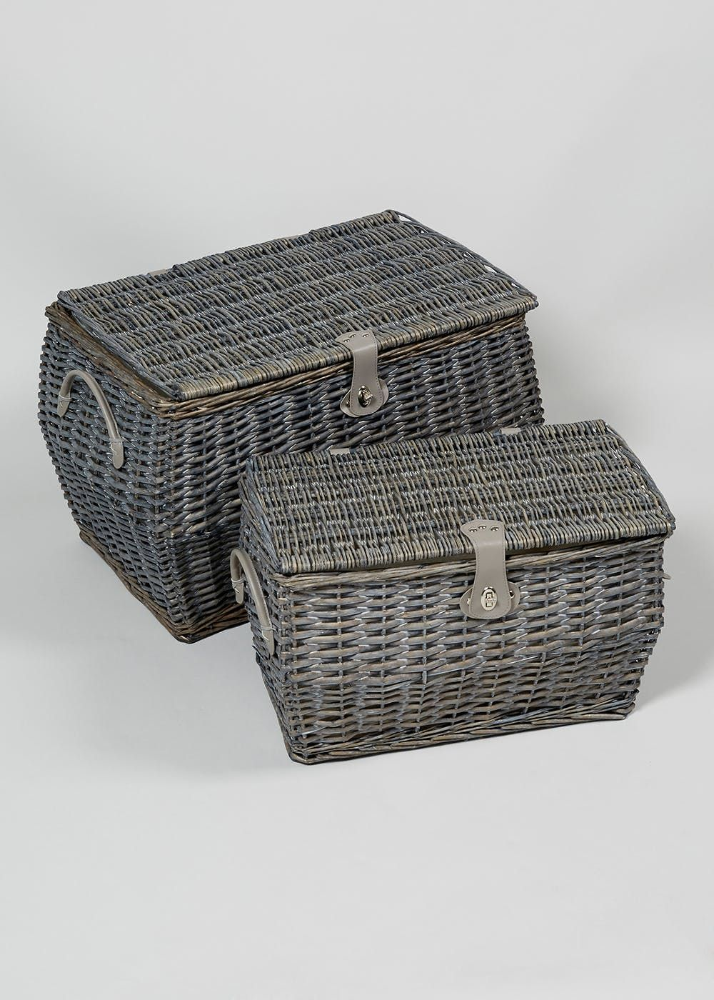 2 pack will baskets 58cm x 40cm x 40cm  grey  basket