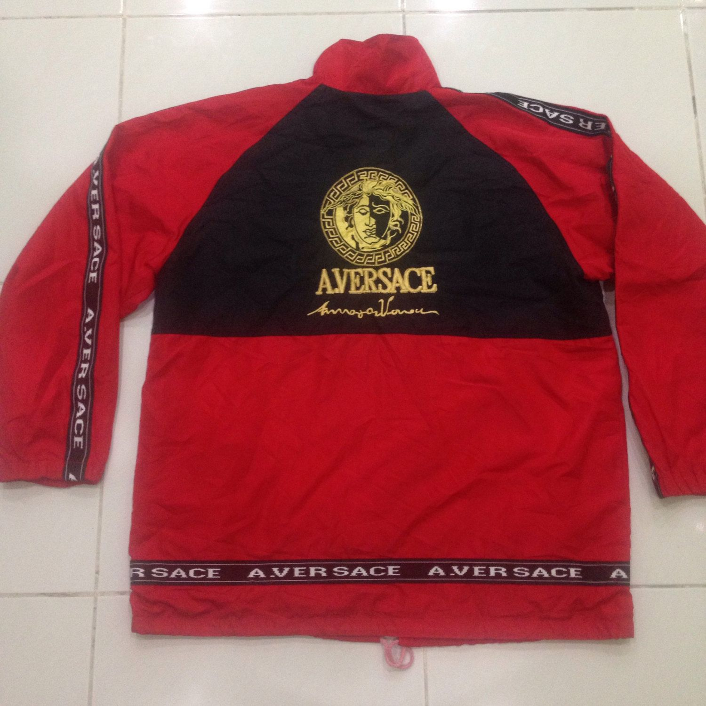 red versace hoodie