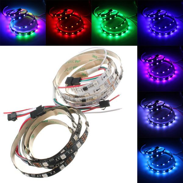 Us 7 48 1m 9 6w Dc 12v Ws2811 48 Smd 5050 Led Rgb Changeable Flexible Strip Light Individually Addressable Led Strip From Lights Lighting On Banggood Com Strip Lighting Led Led Strip Lighting
