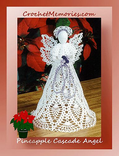 0311 Pineapple Cascade Angel Christmas Tree Topper Pattern Pineapple Angel Pattern Crochet Angel Pattern