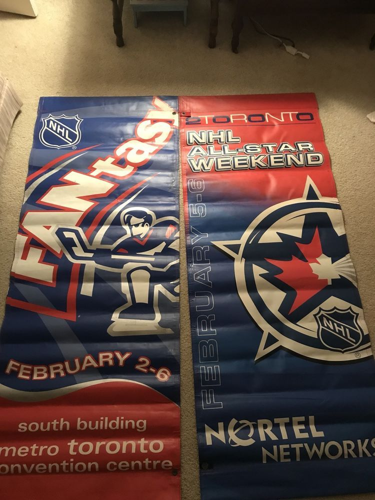 NHL ALL-STAR GAME FANFEST VERTICAL BANNER VERYRARE Game Used Toronto Maple  Leafs (eBay Link) b7650243b