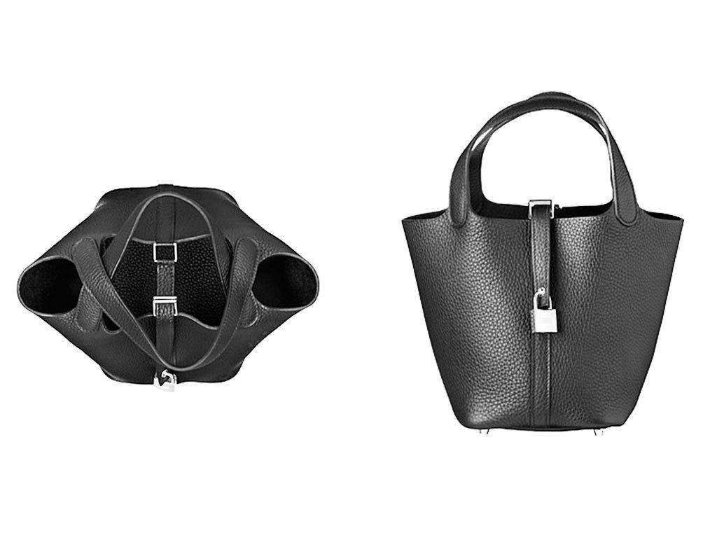 9a0dbfd0b2a8 Hermes Black Picotin Lock PM Bag