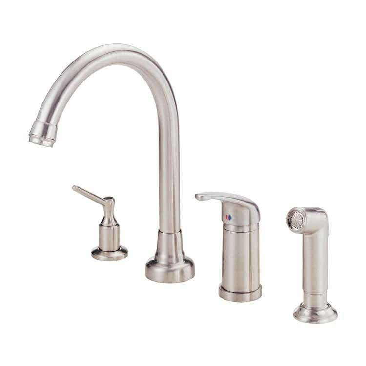 Melrose Single Handle High Arc Kitchen Faucet With Side Sprayer