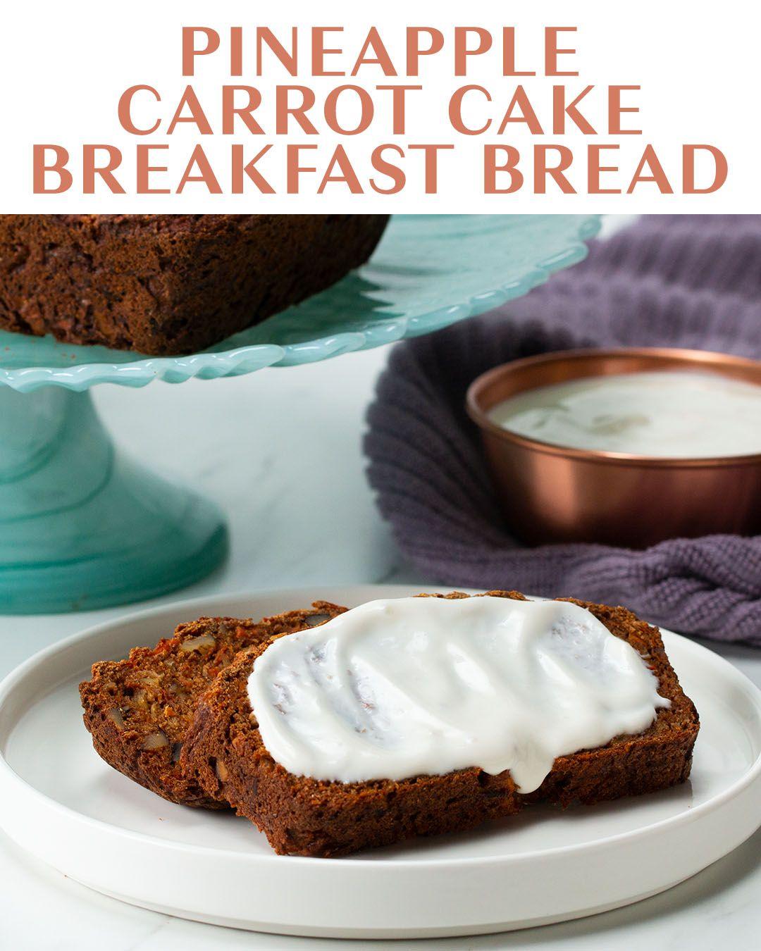 Pineapple Carrot Cake Breakfast Bread Recipe by Tasty