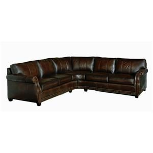 Bradley Leather Sectional By Bernhardt Corner Sectional Sofa Wholesale Furniture Leather Sectional