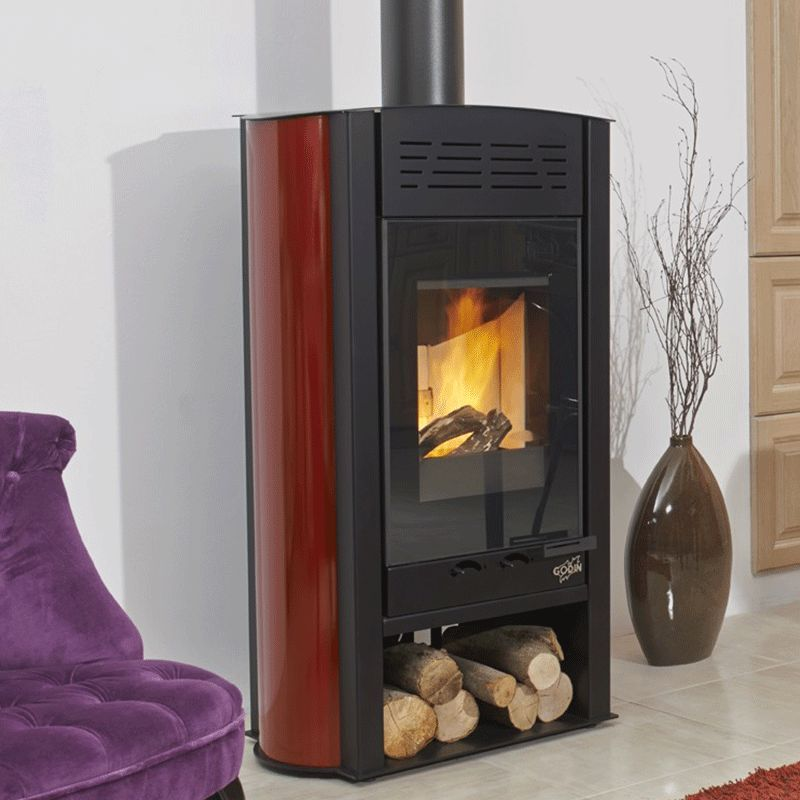 Styledesign 8kw Poele A Bois Godin Argent In 2020 Home