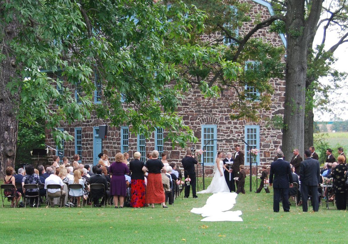 Outdoor wedding at Graeme Park in Horsham, Montgomery ...