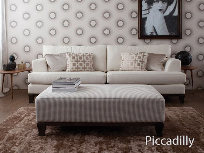 piccadilly fabric footstool