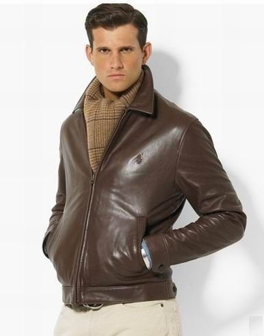 Luxury & Vintage Madrid. Brown JacketBrown Leather JacketsPolo Leather  JacketRalph Lauren ...