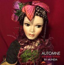 """MUNDIA AUTOMNE Christine et Cecile Porcelain Doll #333/500 - 24"""" Autumn Limited"""