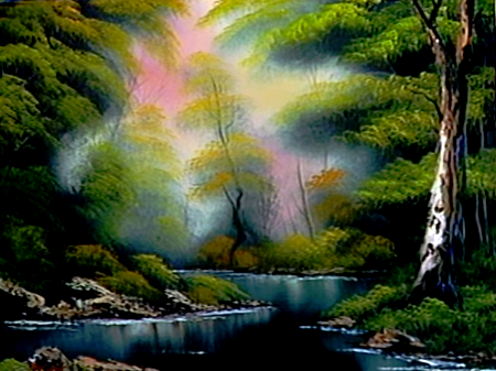 Deep Forest Lake The Joy Of Painting S15e12 Bob Ross Art Bob Ross Paintings The Joy Of Painting