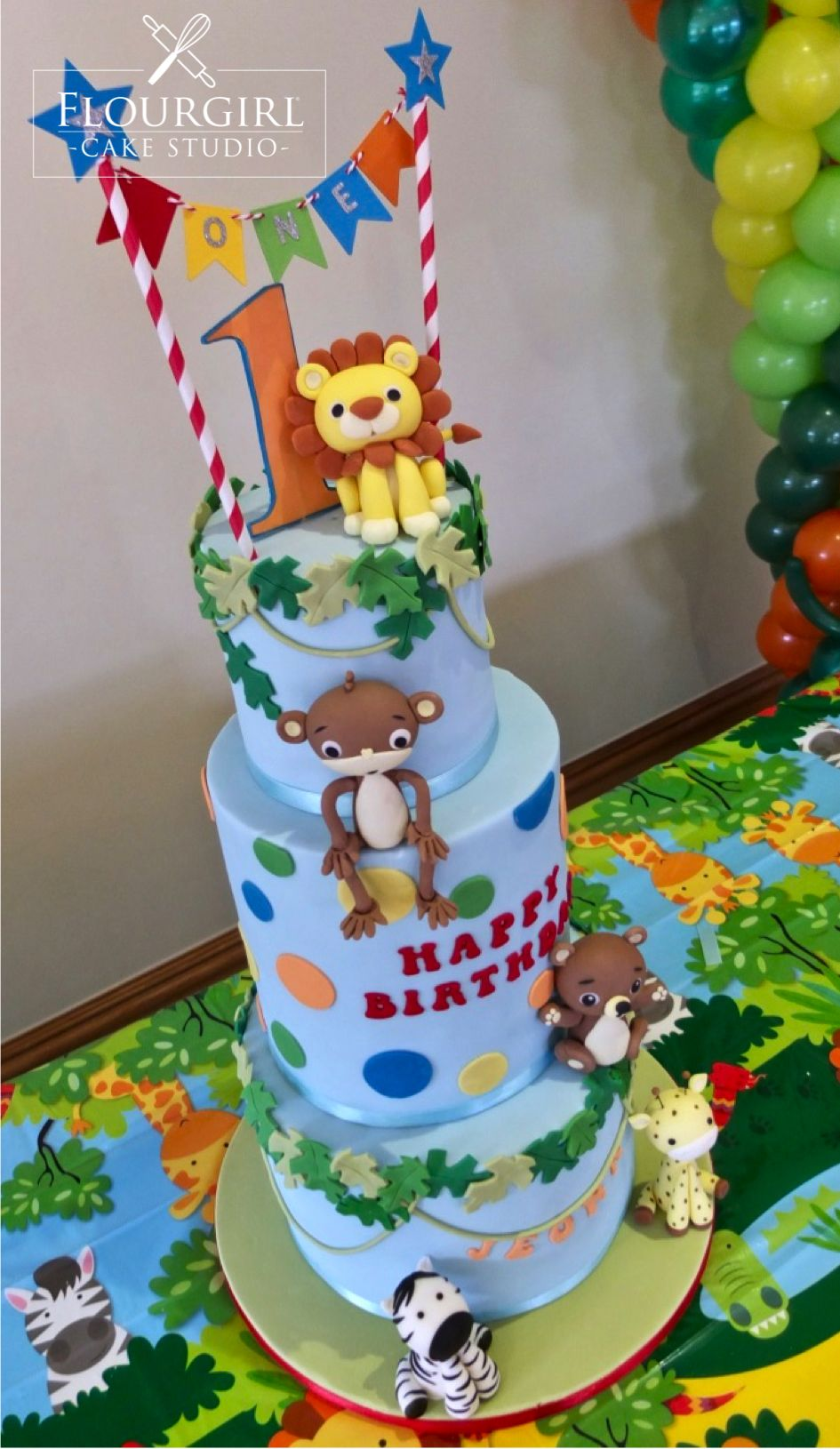 Jungle Cake Animal Cake Safari Cake Kids Animal cake Animal