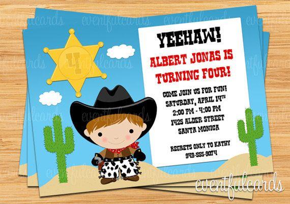 Free Printable Cowboy Birthday Invitations Free Printable Birthday