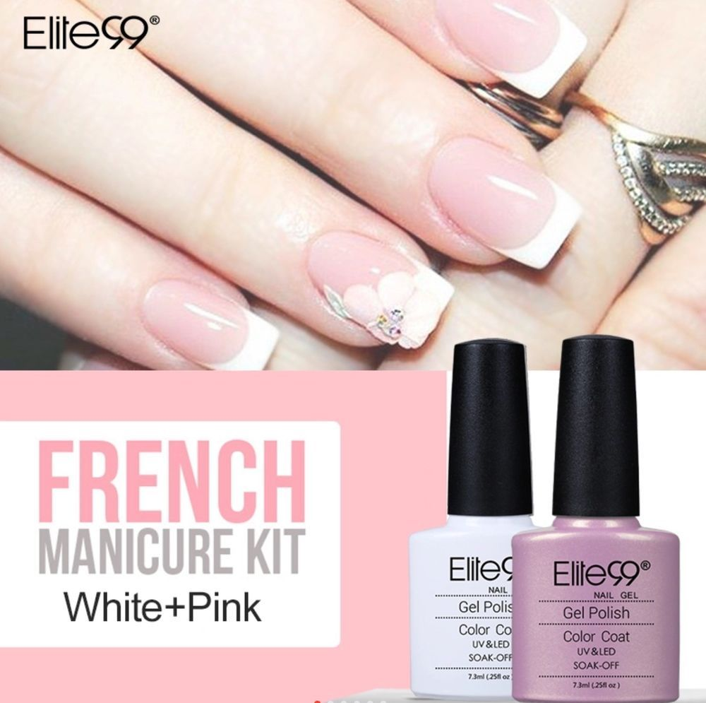 Elite99 7 3ml Nail Gel Uv Led Polish French Manicure Lacquer
