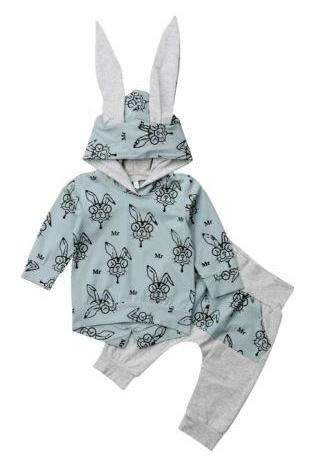 Cool Rabbit Unisex Baby Outfit | Baby clothes, Unisex baby ...