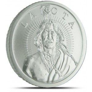 Lakota Silver Round Buy 1 Oz Crazy Horse Silver Bullion Rounds Munten