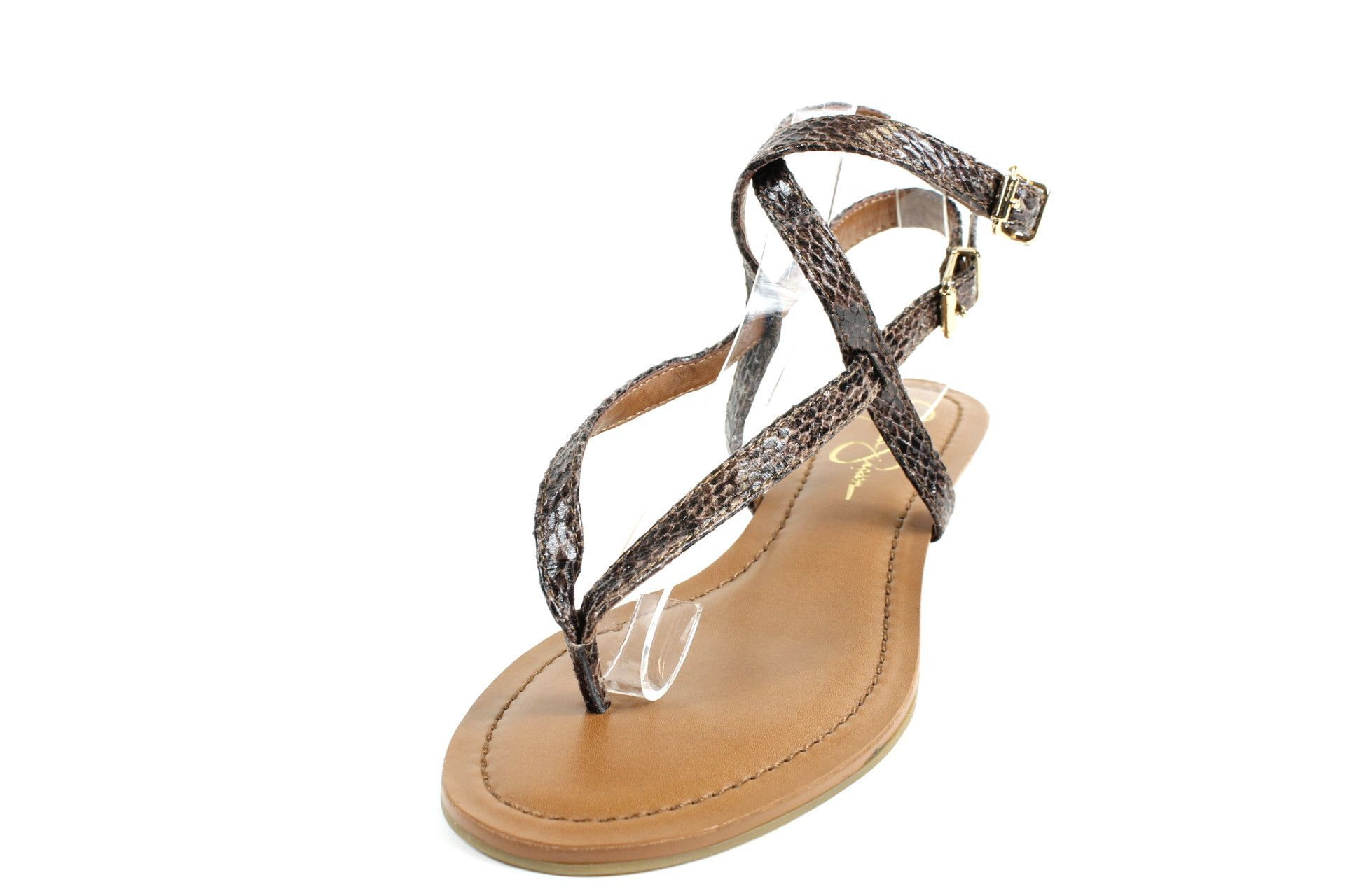 Jessica Simpson Natural/Taupe Brazilian Snake Liliane Strappy Sandals
