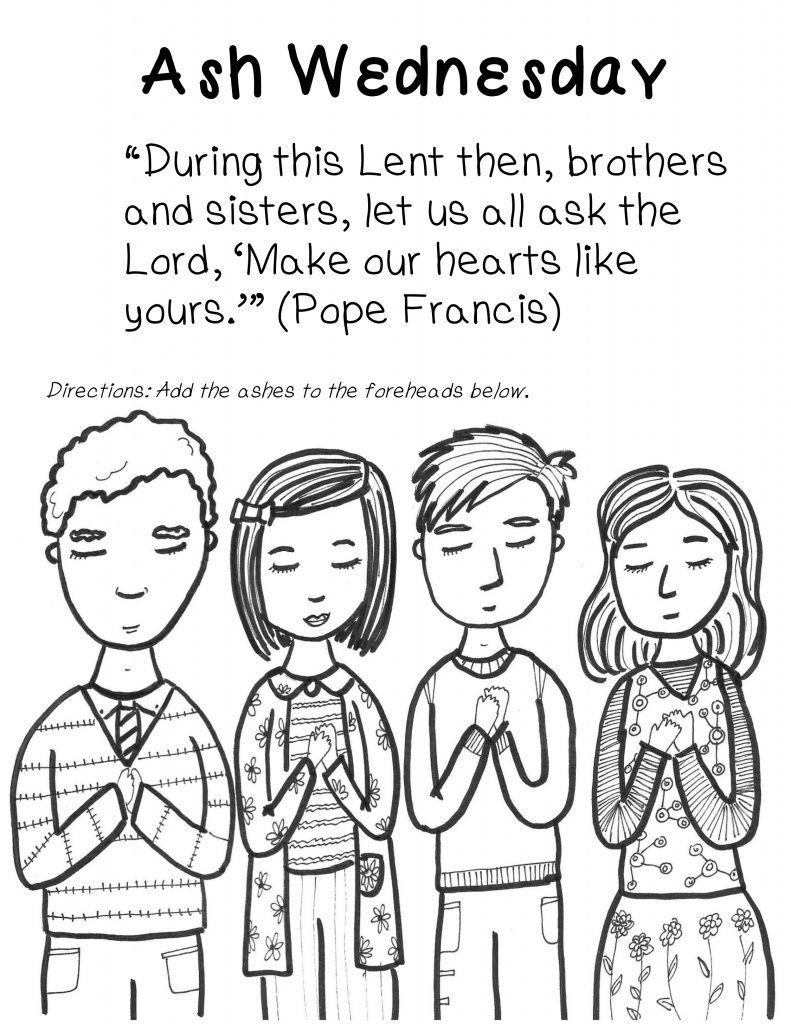 ash wednesday coloring pages # 4