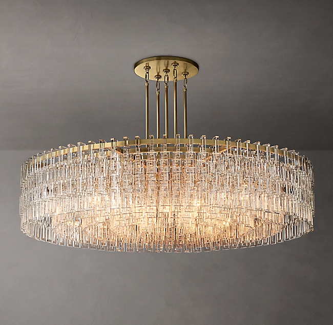 Marignan Single Tier Round Chandelier 60 In 2020 Round Chandelier Chandelier Modern Ceiling Light