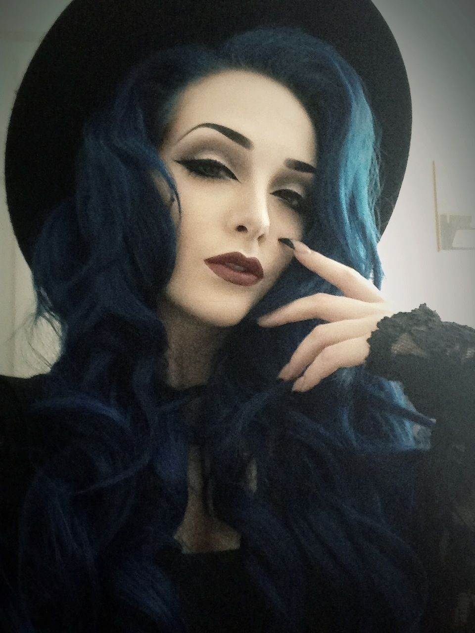 Darkdarkdark Makeup Halloween Hair Midnight Blue Hair