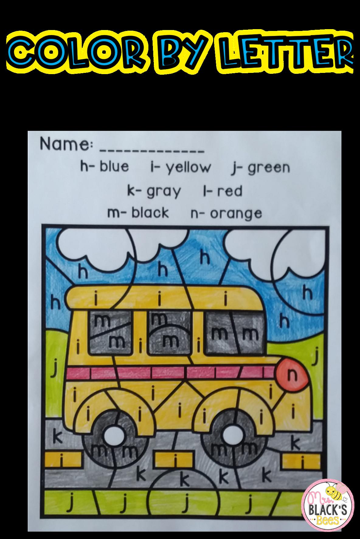 School Color By Code