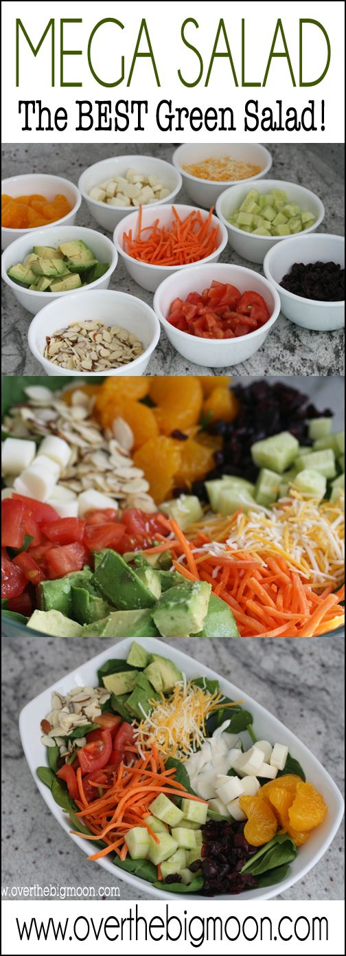 Mega Salad Perfect Green Salad Recipe Salad Toppings Green Salad Eat Salad