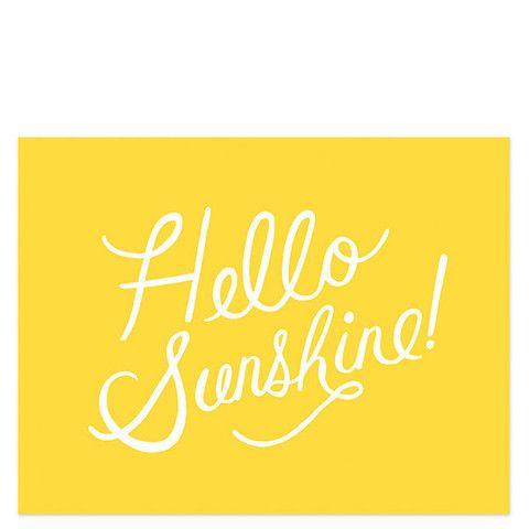 Rifle Paprer Hello Sunshine Print | ShopPigment